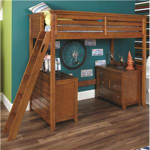 Lea Industries Willow Run Twin Loft Bed with Dressers