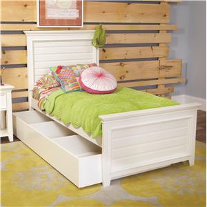 Lea Industries Willow Run Twin Panel Bed with Storage