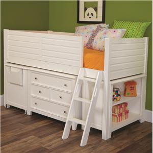 Lea Industries Willow Run Twin Low Loft Bed