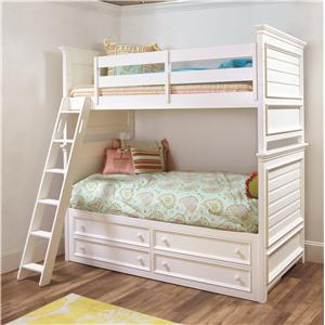 Lea Industries Willow Run Twin Bunk Bed with Captain Box
