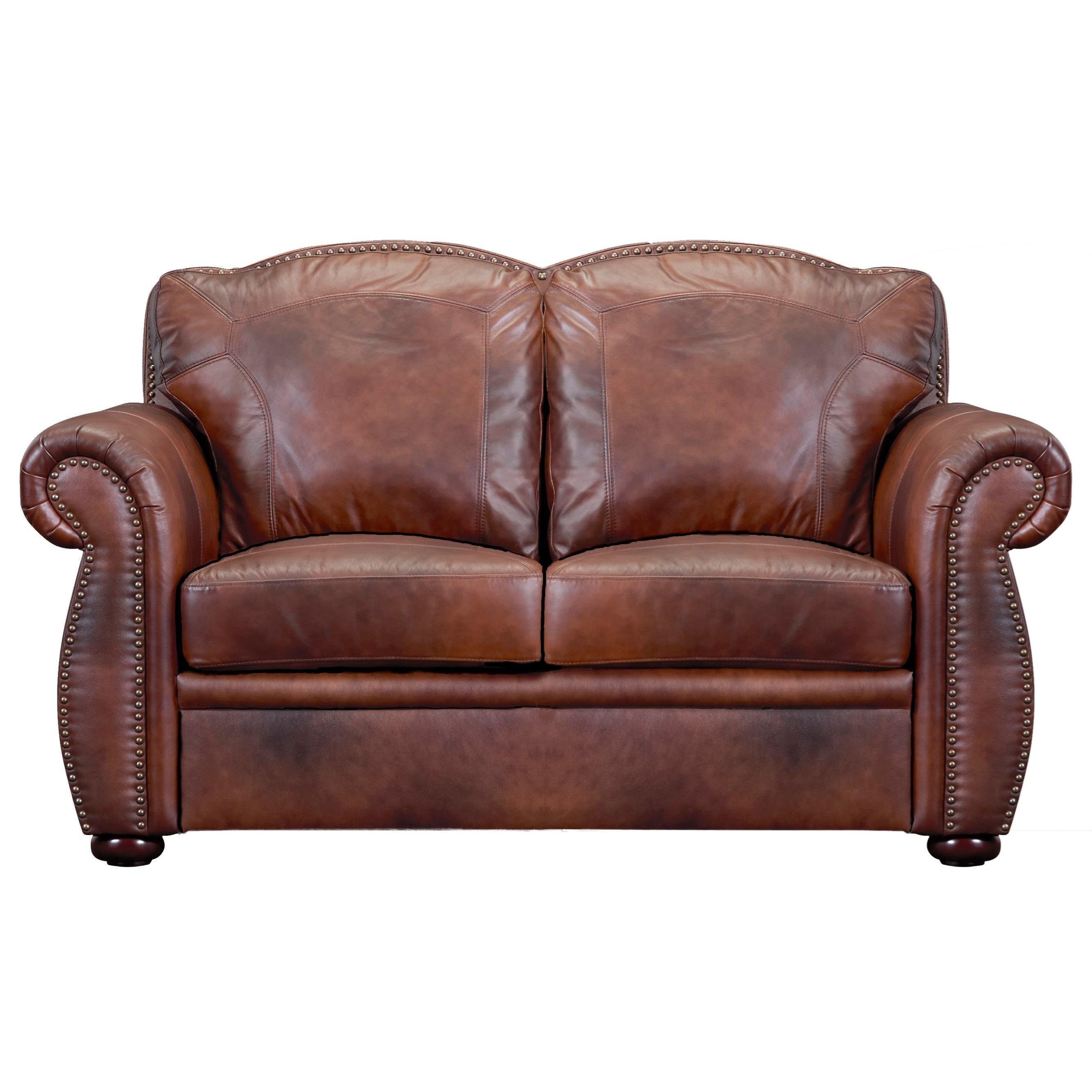 Arizona Leather Loveseat by Leather Italia USA at Lindy's Furniture Company