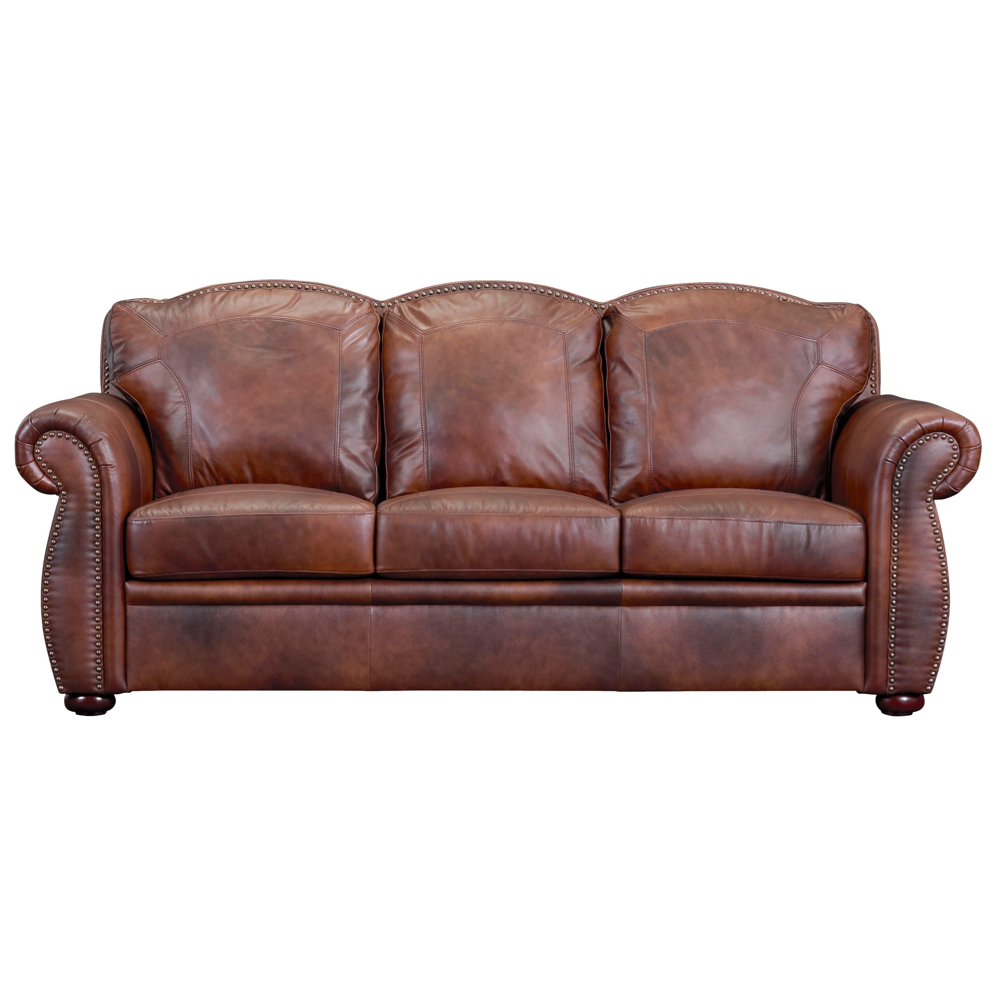 Arizona Leather Sofa by Leather Italia USA at Lindy's Furniture Company