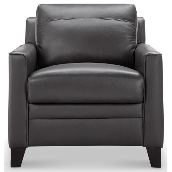 Fletcher Leather Chair by Leather Italia USA at Lapeer Furniture & Mattress Center