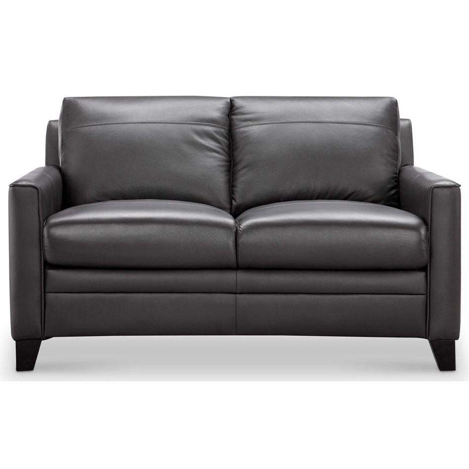 Fletcher Leather Loveseat by Leather Italia USA at Home Furnishings Direct