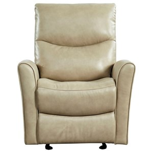 Contemporary Leather Glider Recliner