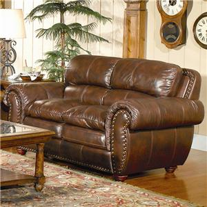 Leather Italia USA Aspen Leather Loveseat