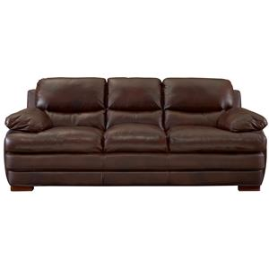 Three Over Three Leather Sofa