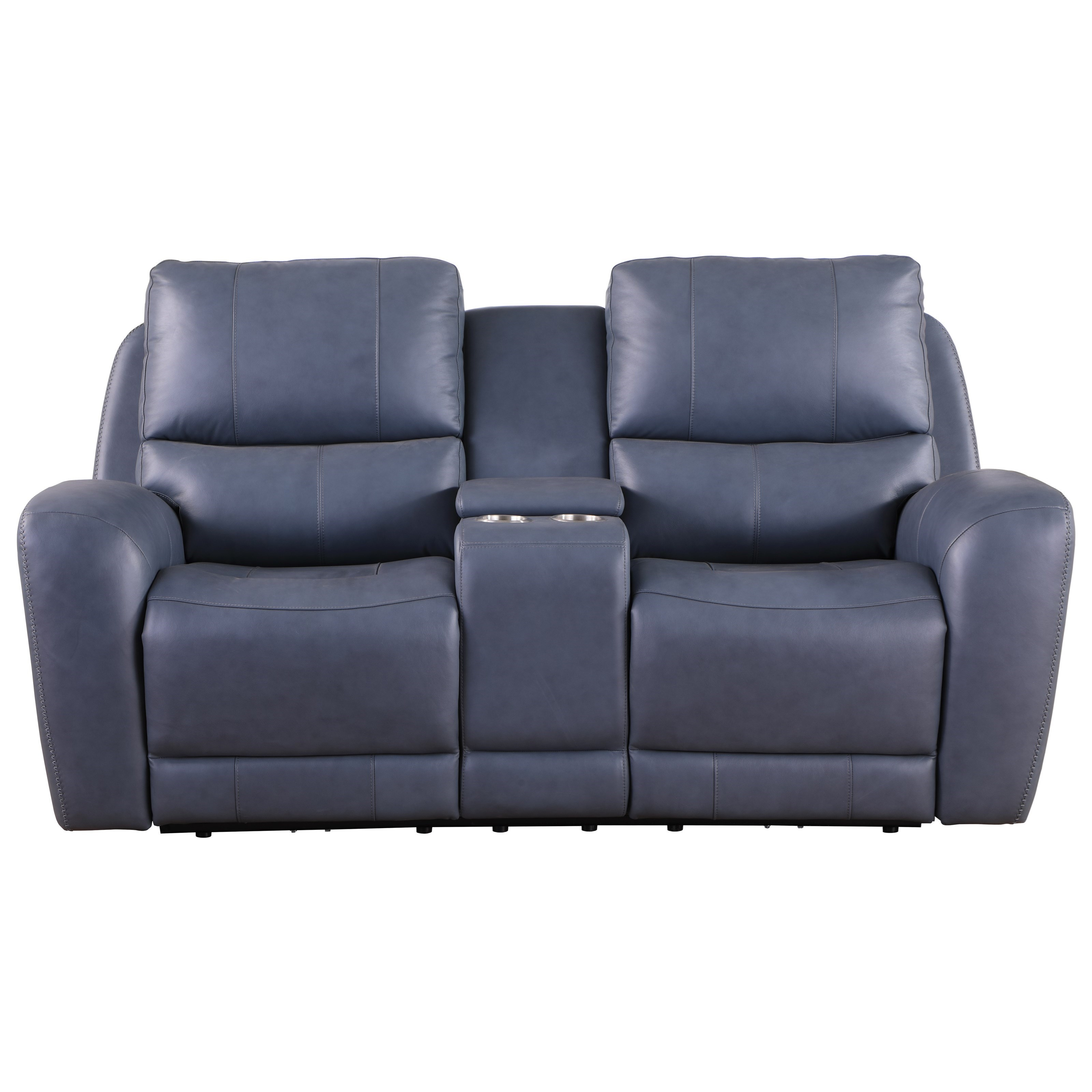 Belair Power Reclining Loveseat by Leather Italia USA at Lindy's Furniture Company