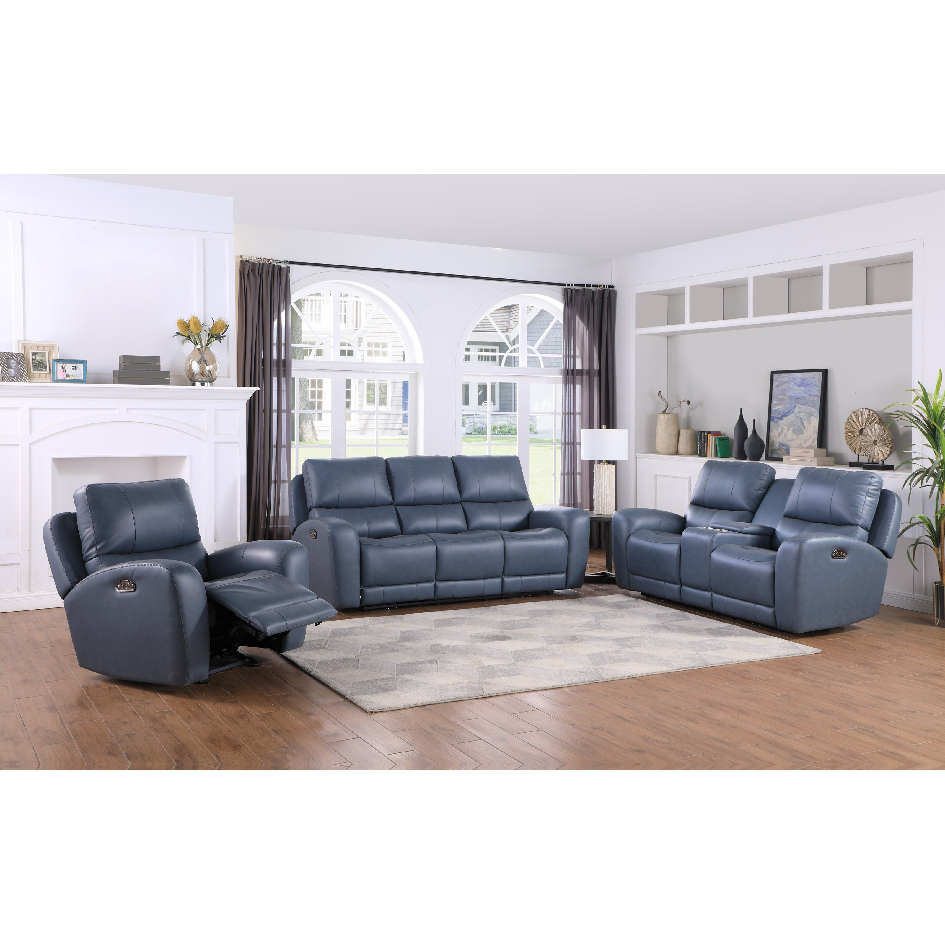 Belair Reclining Living Room Group by Leather Italia USA at Home Furnishings Direct