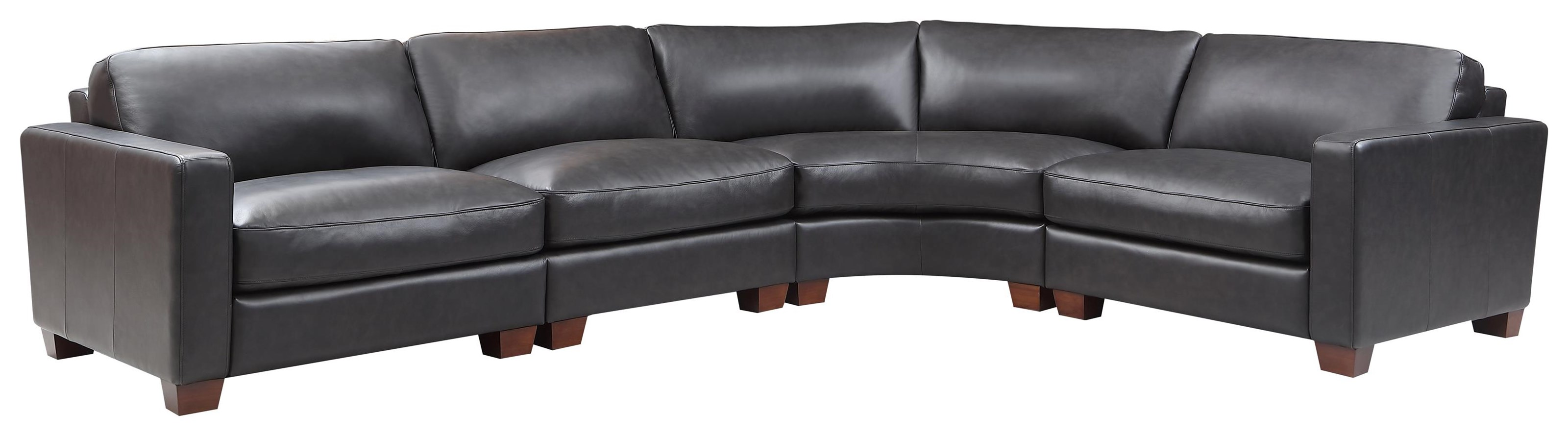 Brent 4 Piece Sectional by Leather Italia USA at Johnny Janosik