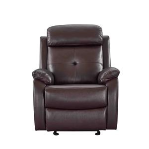 Leather Glider Manual Recliner