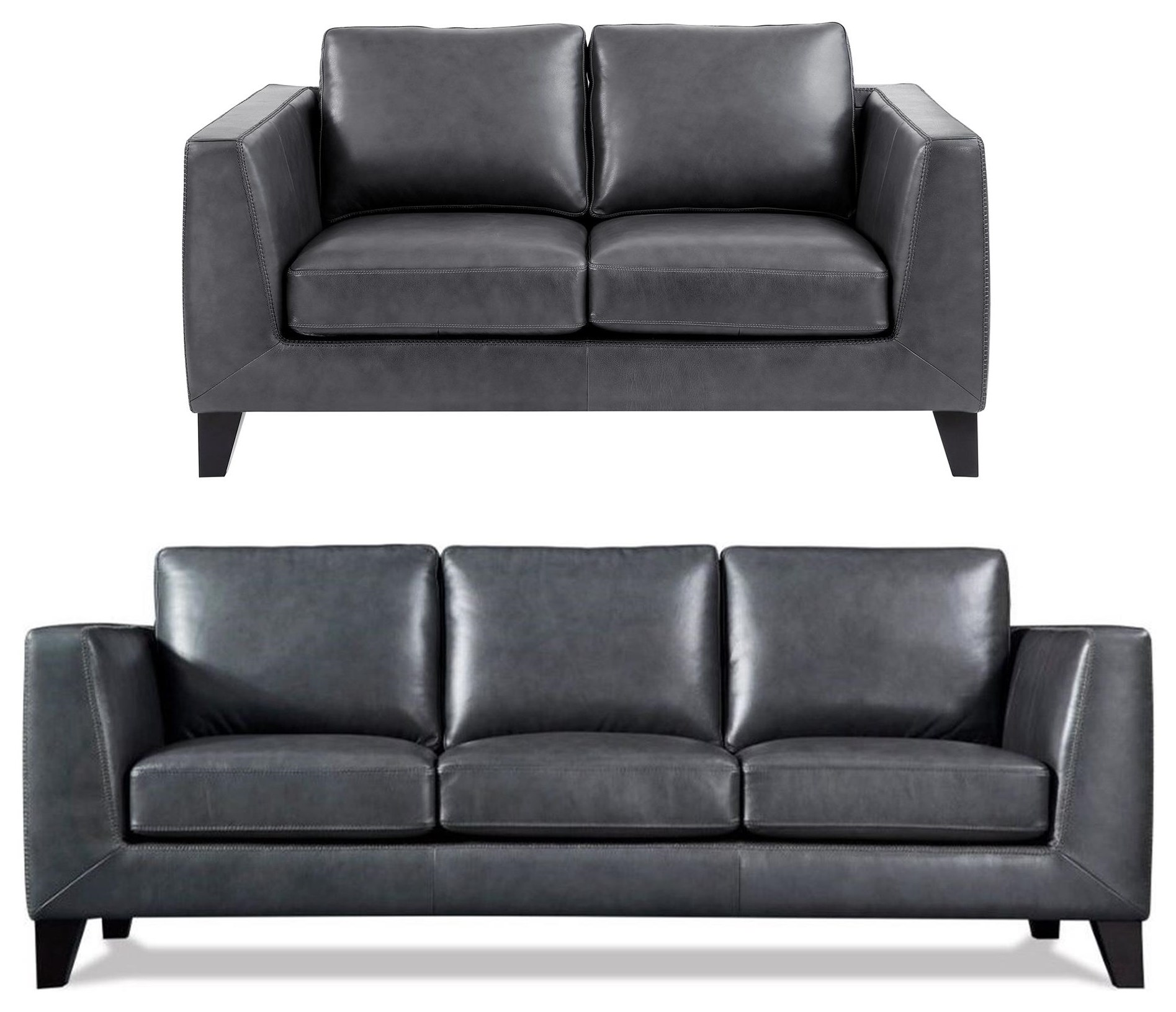 Chic 2PC Leather Sofa & Loveseat Set at Rotmans