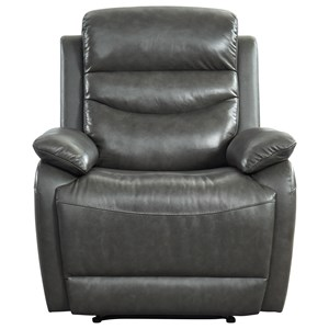 Casual Leather Glider Recliner