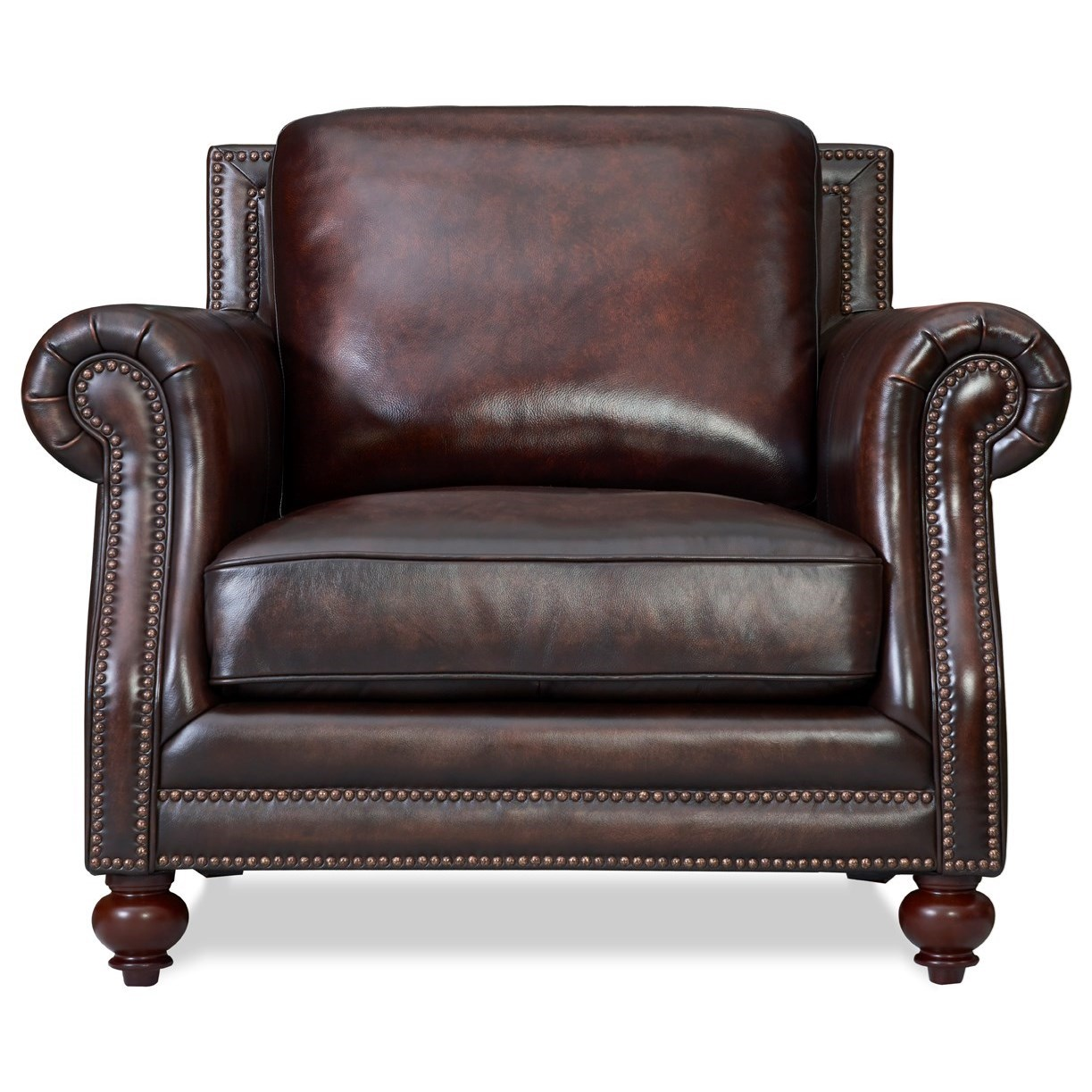 Dallas Chair by Leather Italia USA at Home Furnishings Direct