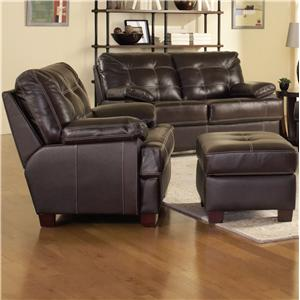 Leather Italia USA Dalton Chair and Ottoman