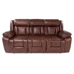 Casual Power Reclining Sofa with Power Adjustable Headrest