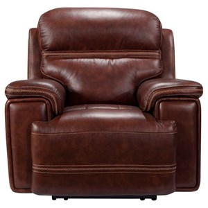 Power Leather Recliner with Power Tilt Headrest, Lay Flat, USB Port