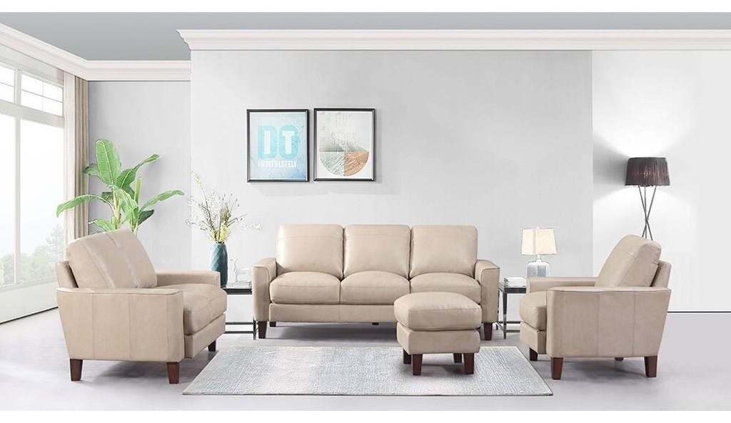Georgetown - Chino Sofa, Chair and Ottoman Set by Leather Italia USA at Sam Levitz Outlet