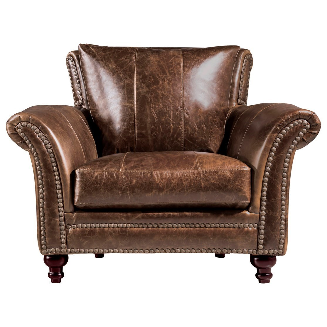 Georgetowne - Butler Leather Chair by Leather Italia USA at Johnny Janosik
