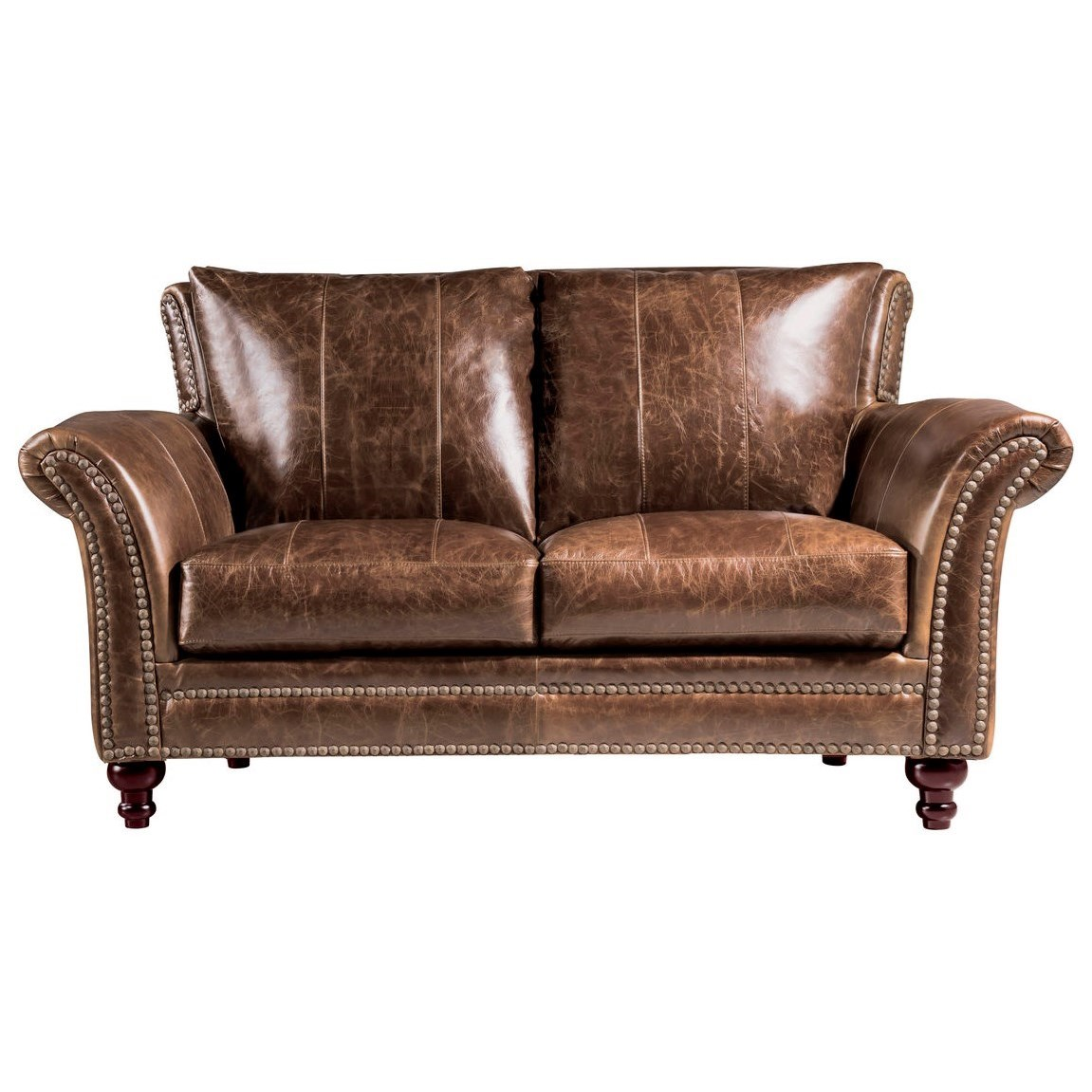 Georgetowne - Butler Leather Loveseat by Leather Italia USA at Johnny Janosik