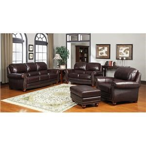 Tobacco Sofa, Loveseat and Chair Set
