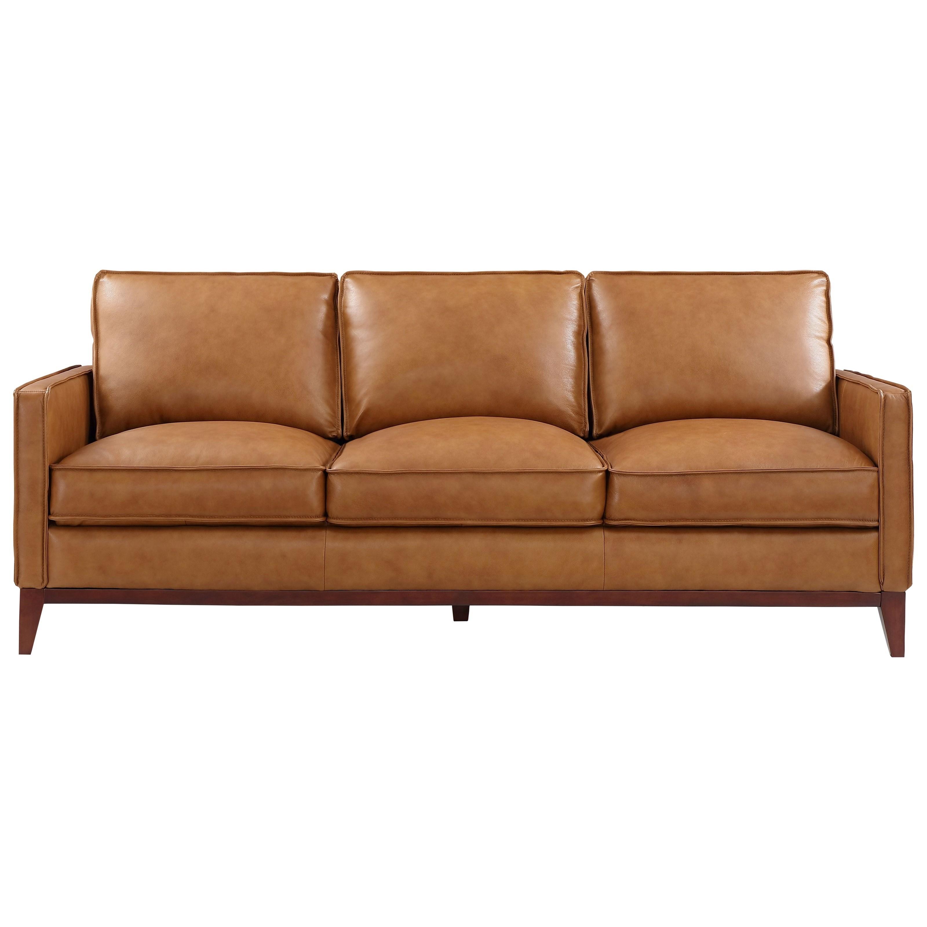 Newport Sofa by Leather Italia USA at Johnny Janosik