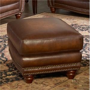 Leather Italia USA Parker Ottoman
