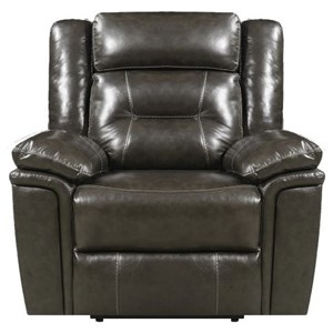 Leather Power Headrest Recliner with USB Port