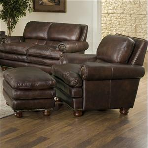 Leather Italia USA Roswell Chair and Ottoman
