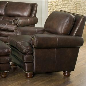 Leather Italia USA Roswell Chair 1226 Burgundy