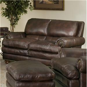 Leather Italia USA Roswell Loveseat 1226 Burgundy