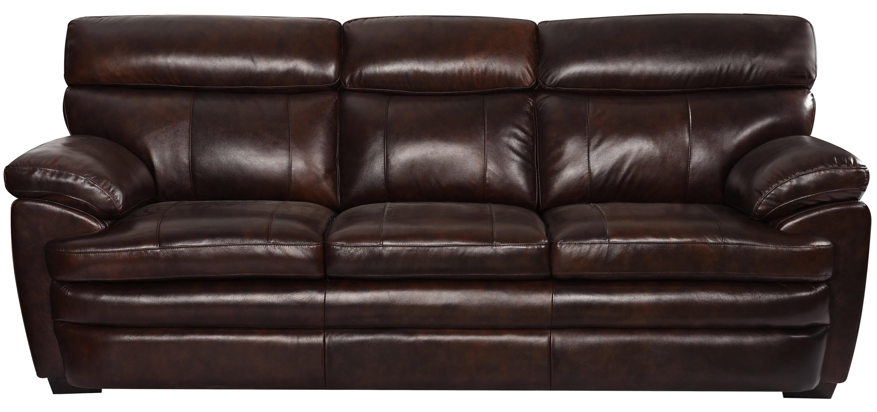 Scottsdale Leather Sofa by Benini Leather at Bennett's Furniture and Mattresses