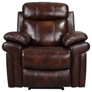 Leather Power Recliner with Power Headrest