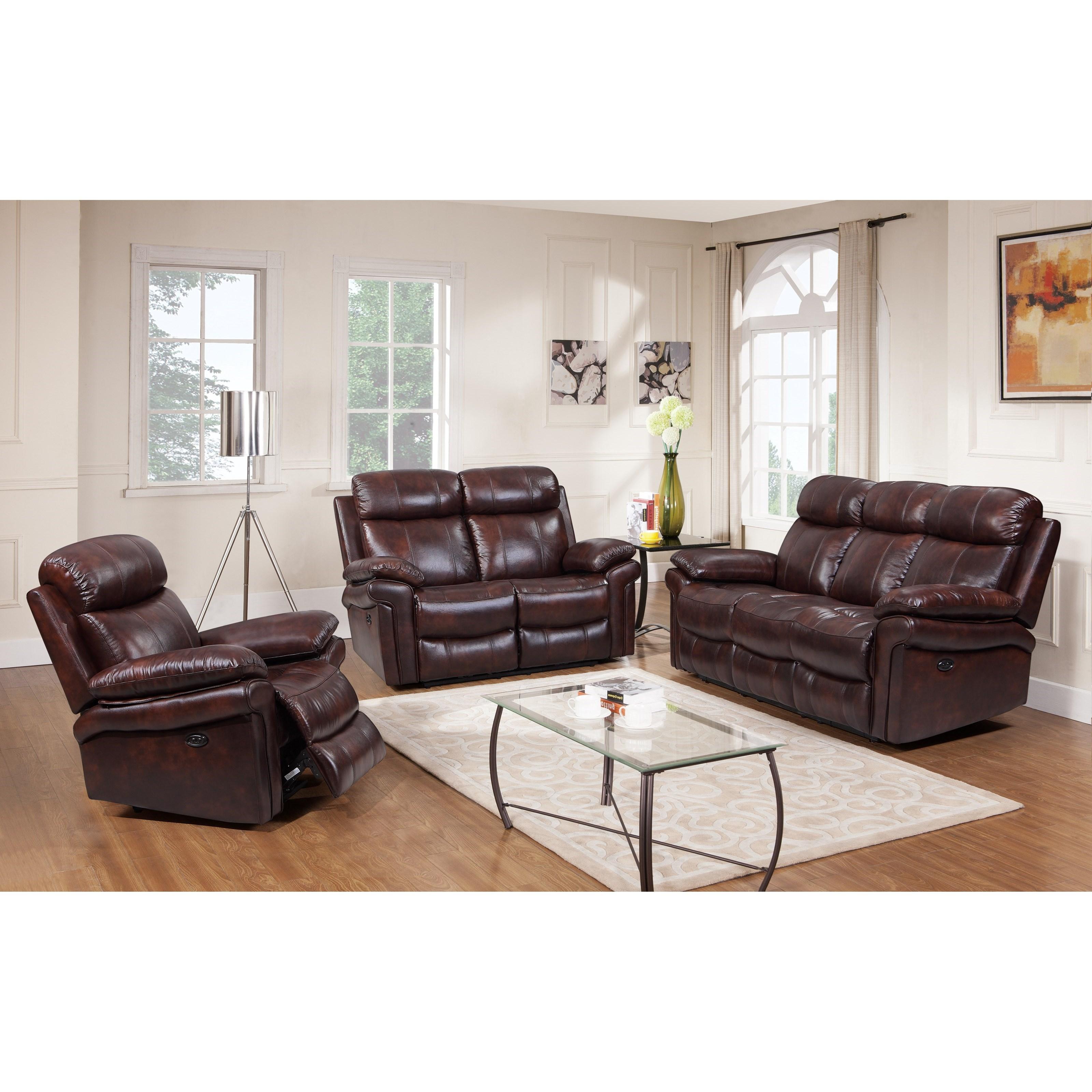 Shae - Joplin Reclining Living Room Group by Leather Italia USA at Johnny Janosik