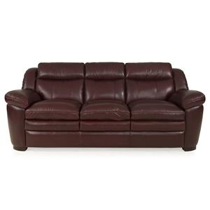 Leather Italia USA Sonora Sofa 1286 Burgundy