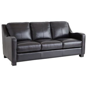 Sofa with Sloped Track Arms