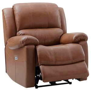 Power Reclining Chair with Pillow Arms