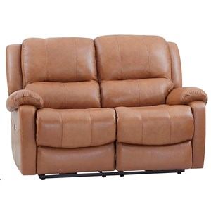 Power Reclining Casual Loveseat with Pillow Arms