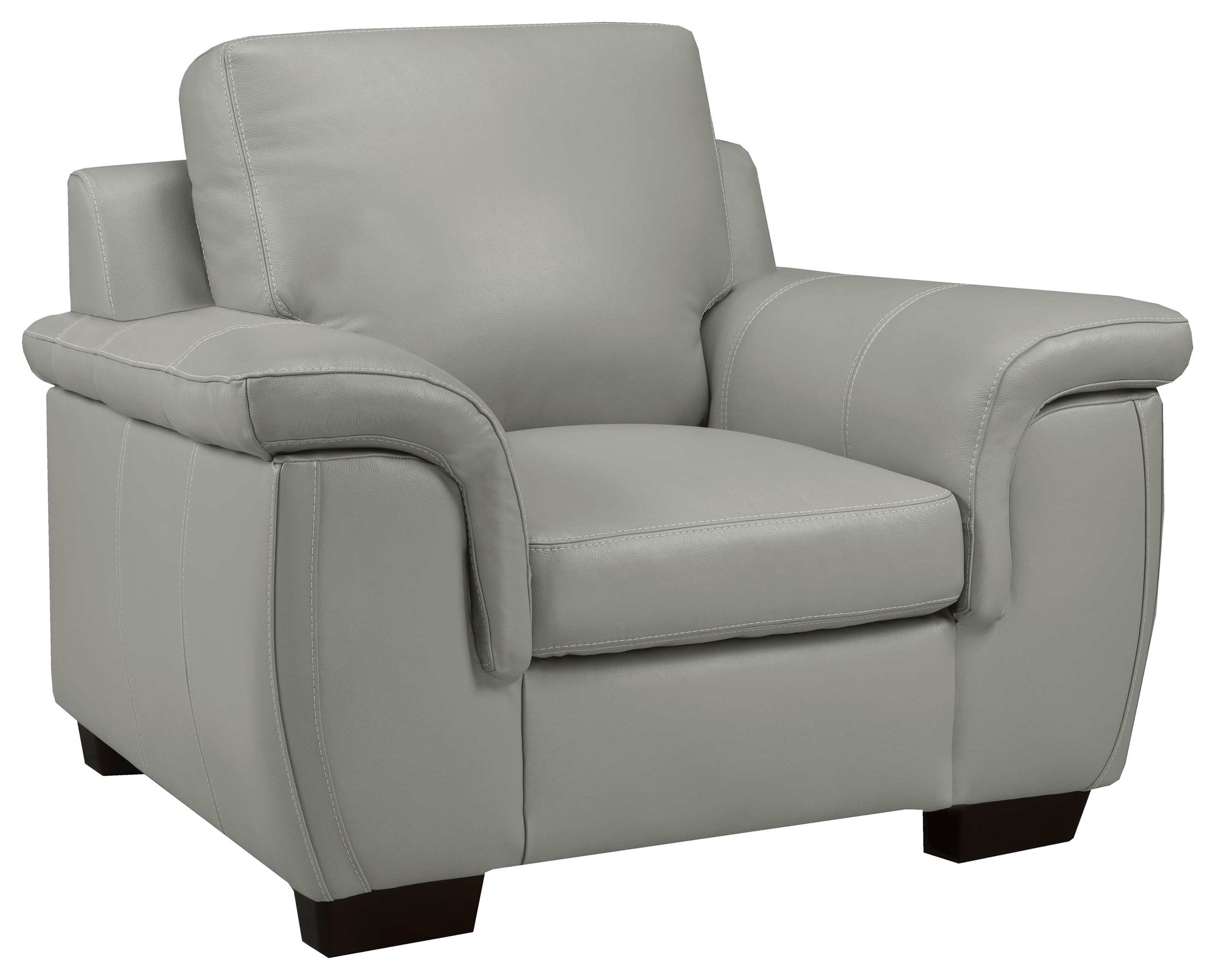 Brisbane Chair - Lthr /cloud Gray Al by Leather Living at Stoney Creek Furniture
