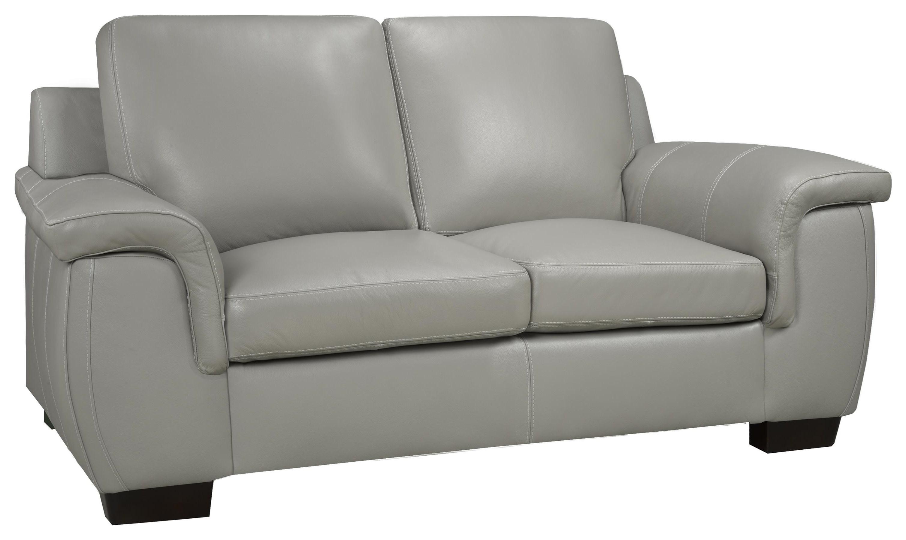 Brisbane Loveseat - Lthr /cloud Gray Al by Leather Living at Stoney Creek Furniture