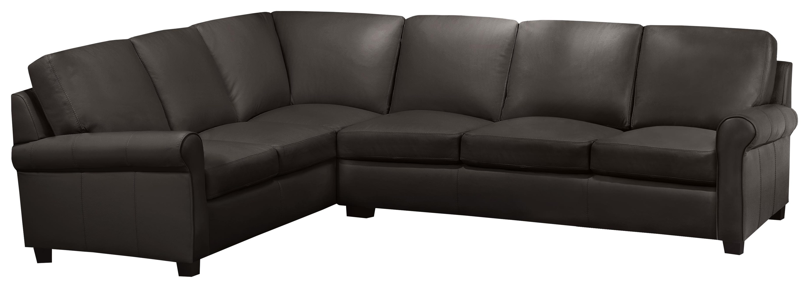 Lima 2 Pc Lthr Sectl/mocha Al by Leather Living at Stoney Creek Furniture
