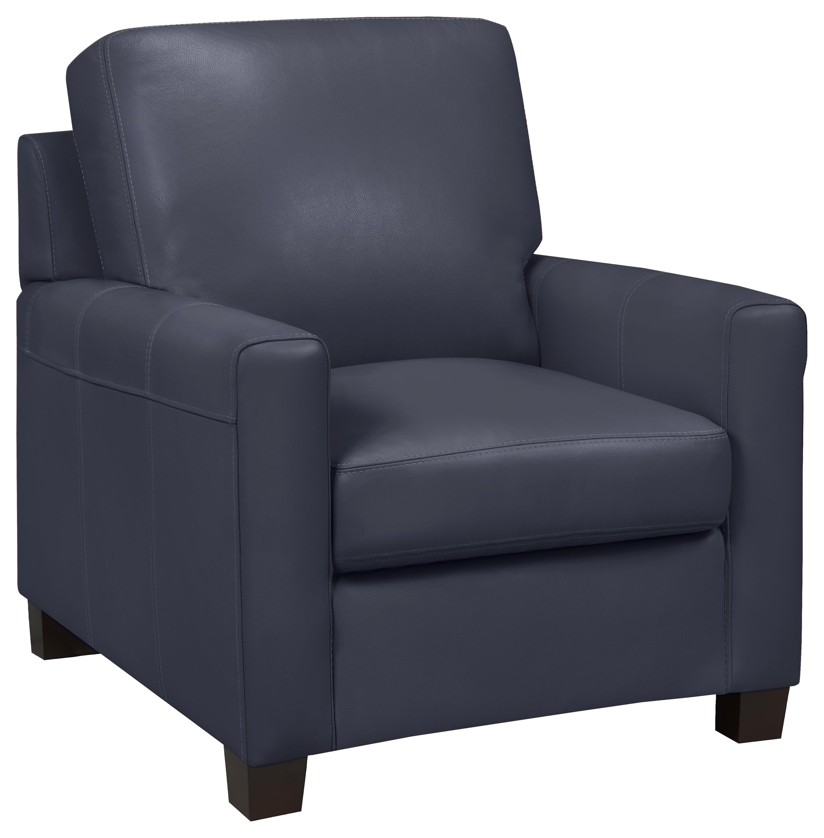 Milan Chair - Lthr  / Al Navy by Leather Living at Stoney Creek Furniture