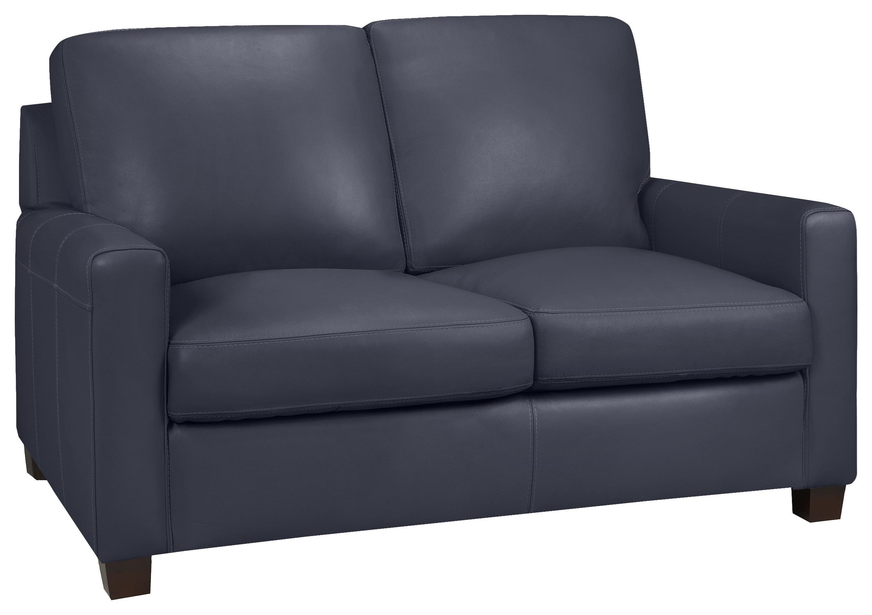 Milan Loveseat - Lthr / Al Navy by Leather Living at Stoney Creek Furniture