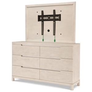 Dresser and TV Frame Combination
