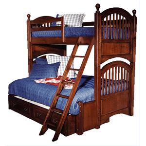 Legacy Classic Kids American Spirit Twin-Over-Full Bunk with Trundle