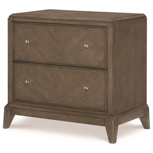 2 Drawer Night Stand with Outlet and USB Port