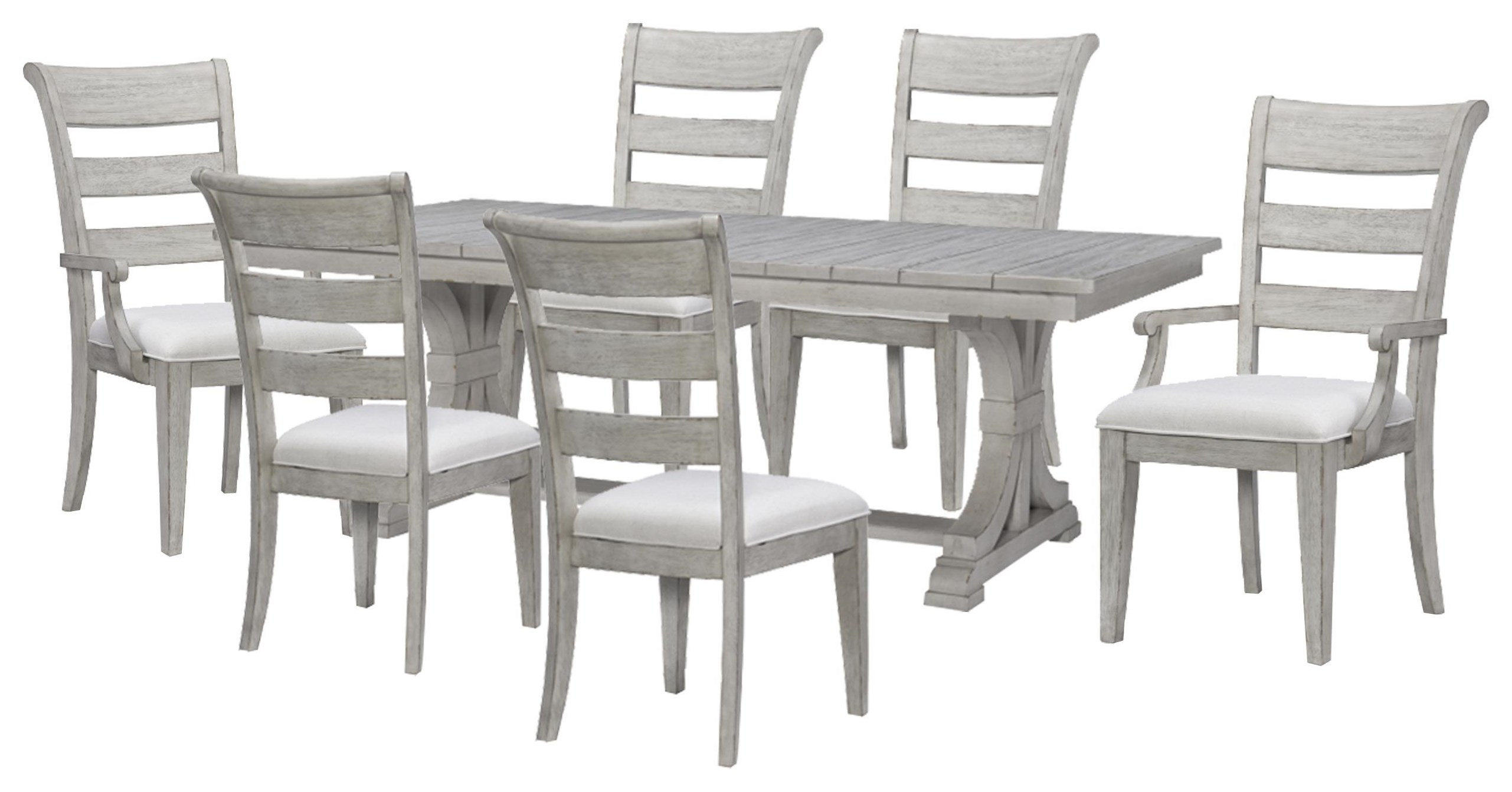 Belhaven Trestle Table, Side Chair, Arm Chair by Legacy Classic at Johnny Janosik
