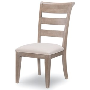 Transitional Ladder Back Side Chair