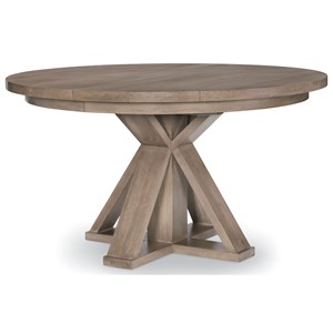 Round Pedestal Table with Leaf