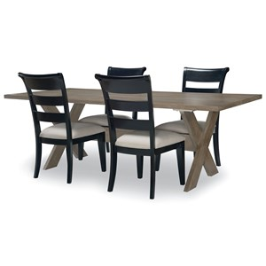 5-Piece Rectangular Table and Chair Set